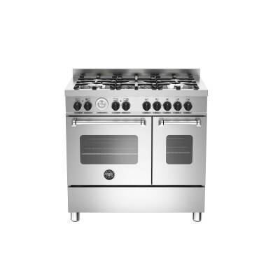 Bertazzoni Master 90cm Induction 5 Zone Range Cooker (2 Ovens) - Stainless Steel
