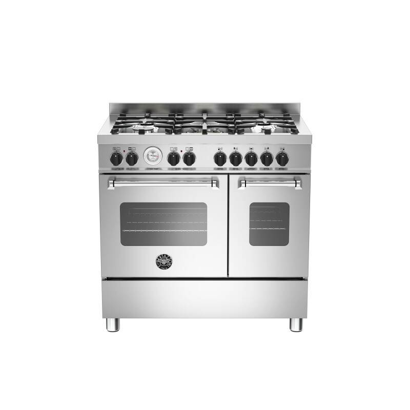 Bertazzoni Master 90cm Induction 5 Zone Range Cooker (2 Ovens) - Stainless Steel primary image