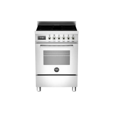 Bertazzoni Professional 60cm Induction 4 Zone 1 Oven Range Cooker - Stainless Steel