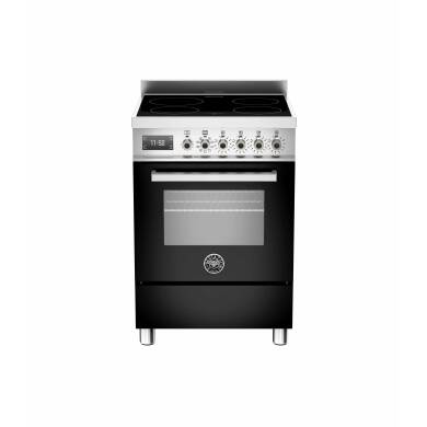 Bertazzoni Professional 60cm Induction 4 Zone Range Cooker - Gloss Black (Nero)