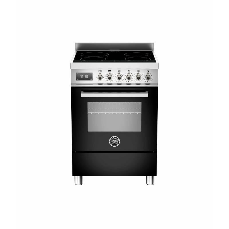 Bertazzoni Professional 60cm Induction 4 Zone Range Cooker - Gloss Black (Nero) primary image