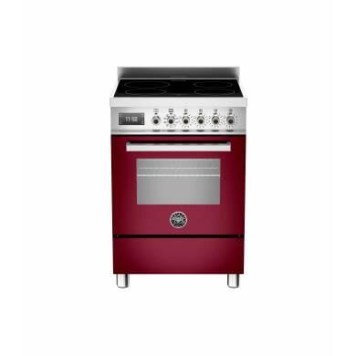 Bertazzoni Professional 60cm Induction 4 Zone Range Cooker - Gloss Burgundy (Vino)
