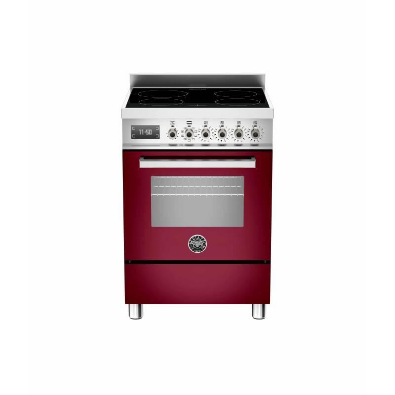 Bertazzoni Professional 60cm Induction 4 Zone Range Cooker - Gloss Burgundy (Vino) primary image