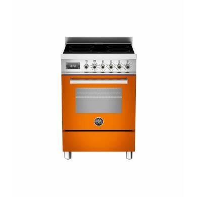Bertazzoni Professional 60cm Induction 4 Zone Range Cooker - Gloss Orange (Arancio)