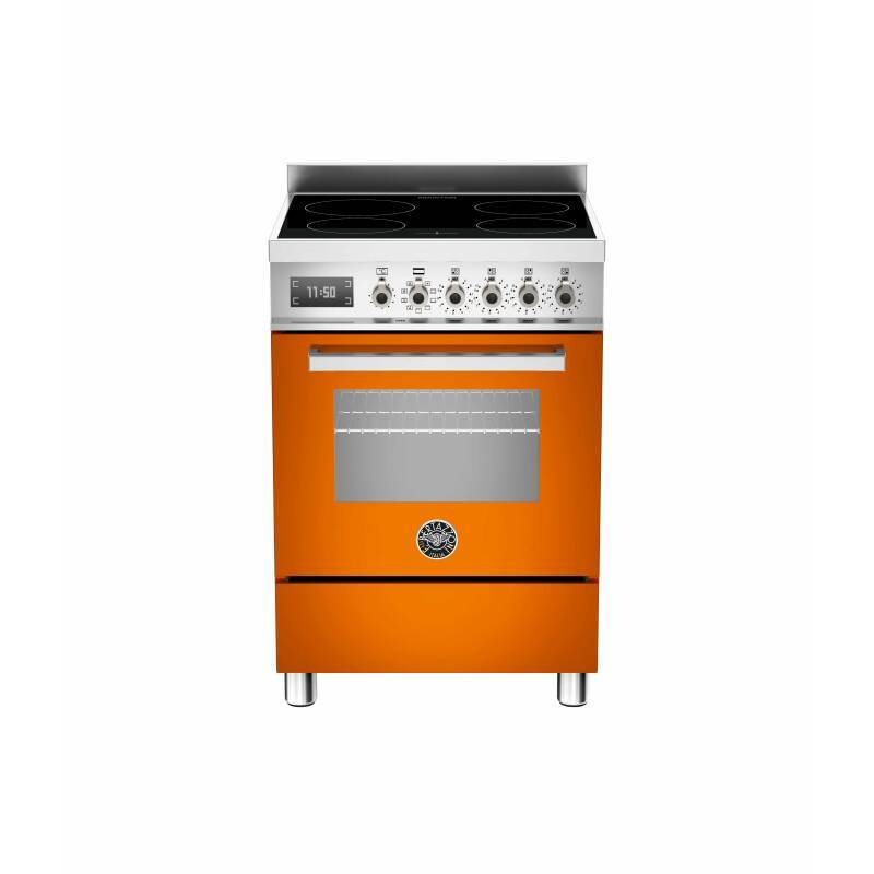 Bertazzoni Professional 60cm Induction 4 Zone Range Cooker - Gloss Orange (Arancio) primary image
