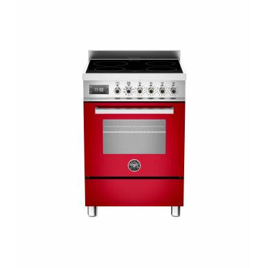 Bertazzoni Professional 60cm Induction 4 Zone Range Cooker - Gloss Red (Rosso)