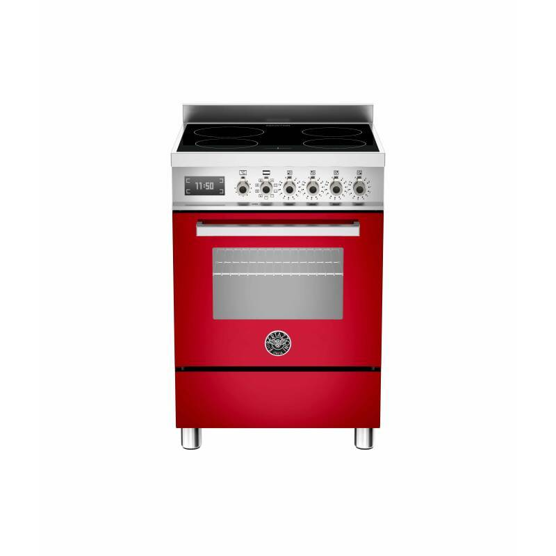 Bertazzoni Professional 60cm Induction 4 Zone Range Cooker - Gloss Red (Rosso) primary image