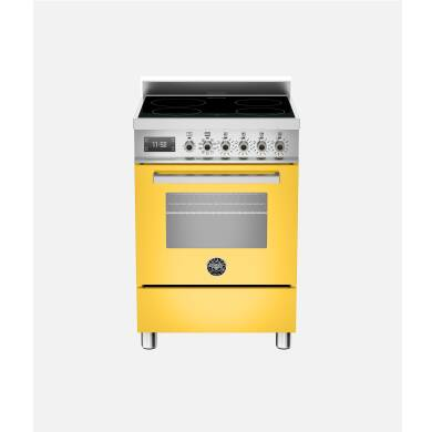 Bertazzoni Professional 60cm Induction 4 Zone Range Cooker - Gloss Yellow (Giallo)