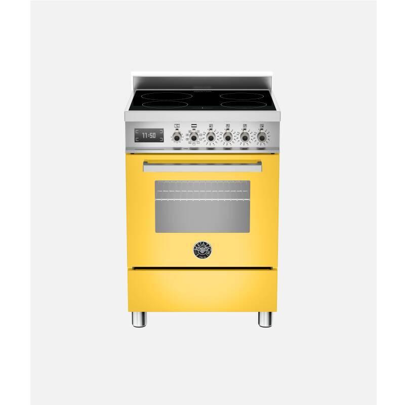 Bertazzoni Professional 60cm Induction 4 Zone Range Cooker - Gloss Yellow (Giallo) primary image