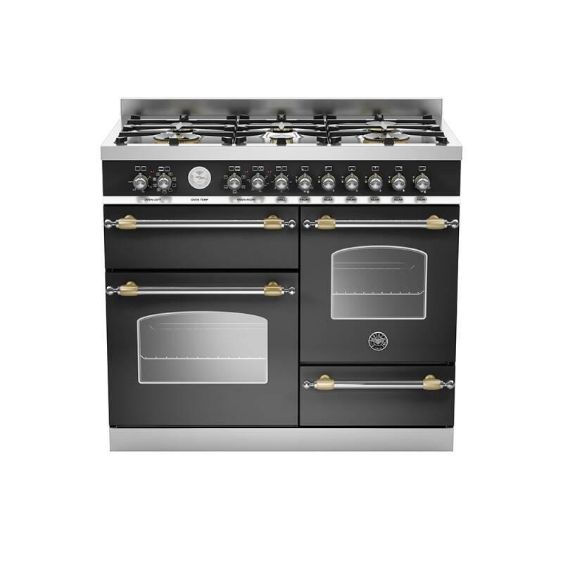 Bertazzoni XG Heritage 100cm Dual Fuel 6 Burner Range Cooker (2 Ovens) - Matt Black (Nero) primary image
