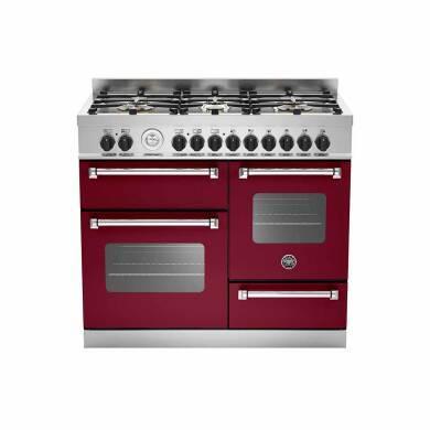 Bertazzoni XG Master 100cm Dual Fuel 6 Burner Range Cooker (2 Ovens) - Matt Burgundy (Vino)