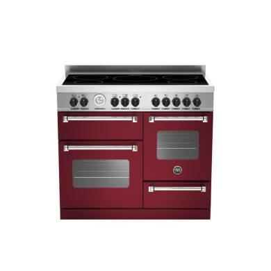 Bertazzoni XG Master 100cm Induction 5 Zone Range Cooker (2 Ovens) - Matt Burgundy (Vino)