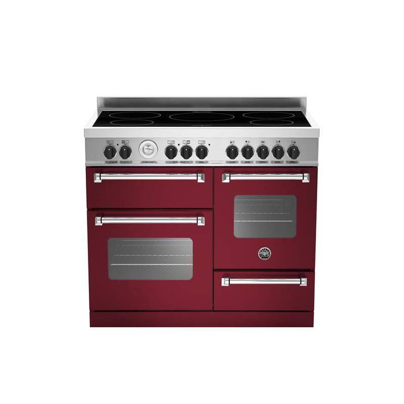 Bertazzoni XG Master 100cm Induction 5 Zone Range Cooker (2 Ovens) - Matt Burgundy (Vino) primary image