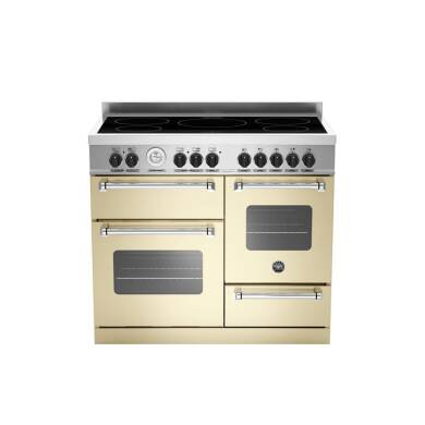 Bertazzoni XG Master 100cm Induction 5 Zone Range Cooker (2 Ovens) - Matt Cream (Crema)