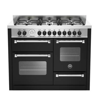 Bertazzoni XG Master 110cm Dual Fuel 6 Burner Range Cooker (2 Ovens) - Matt Black (Nero)