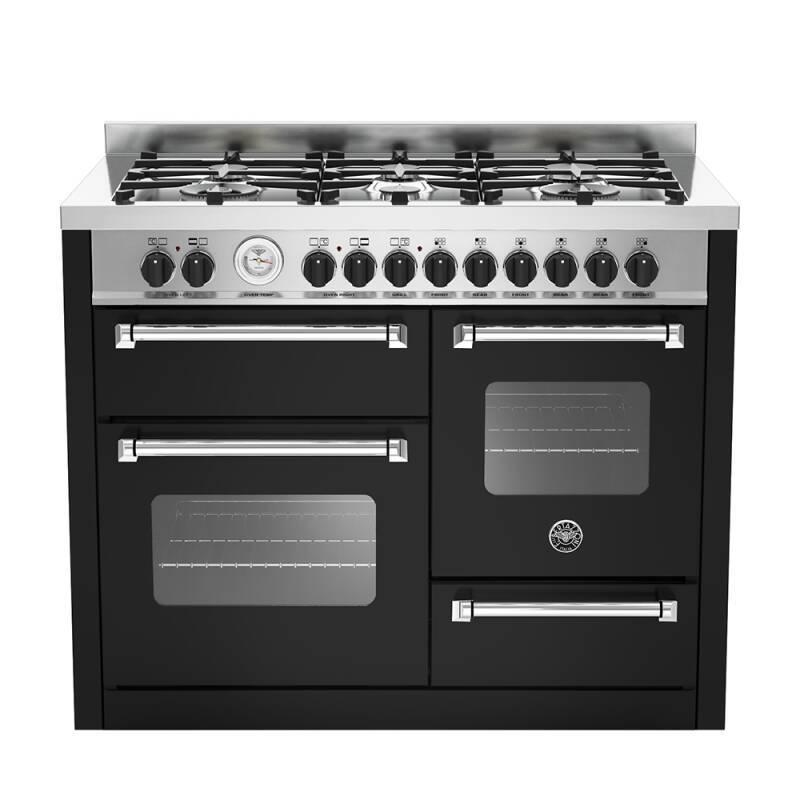 Bertazzoni XG Master 110cm Dual Fuel 6 Burner Range Cooker (2 Ovens) - Matt Black (Nero) primary image