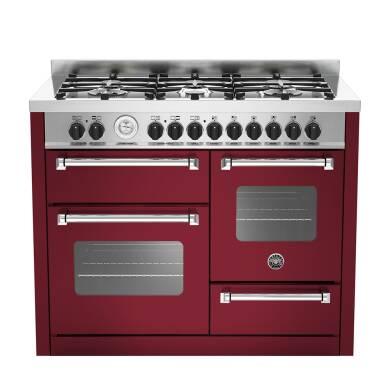 Bertazzoni XG Master 110cm Dual Fuel 6 Burner Range Cooker (2 Ovens) - Matt Burgundy (Vino)