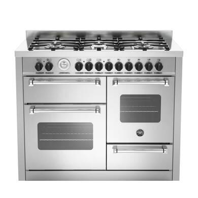 Bertazzoni XG Master 110cm Dual Fuel 6 Burner Range Cooker (2 Ovens) - Stainless Steel