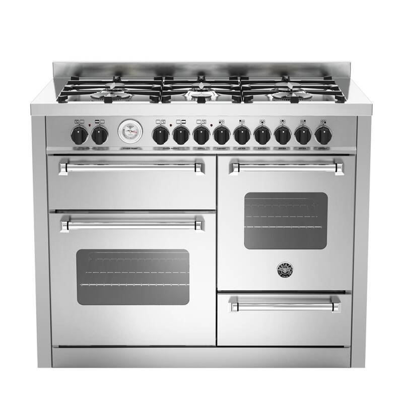 Bertazzoni XG Master 110cm Dual Fuel 6 Burner Range Cooker (2 Ovens) - Stainless Steel primary image