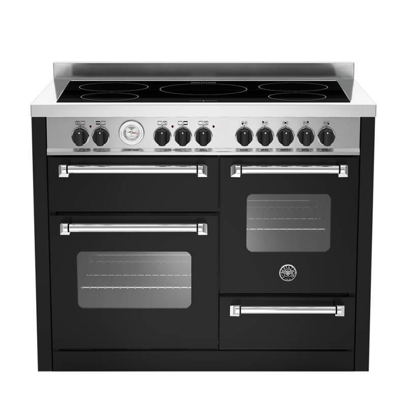 Bertazzoni XG Master 110cm Induction 5 Zone Range Cooker (2 Ovens) - Matt Black (Nero) primary image