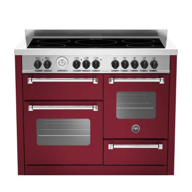 Bertazzoni XG Master 110cm Induction 5 Zone Range Cooker (2 Ovens) - Matt Burgundy (Vino)
