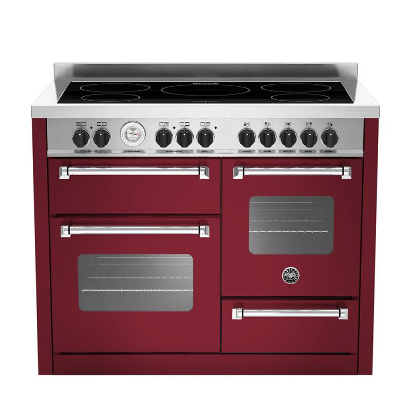 Bertazzoni XG Master 110cm Induction 5 Zone Range Cooker (2 Ovens) - Matt Burgundy (Vino) primary image