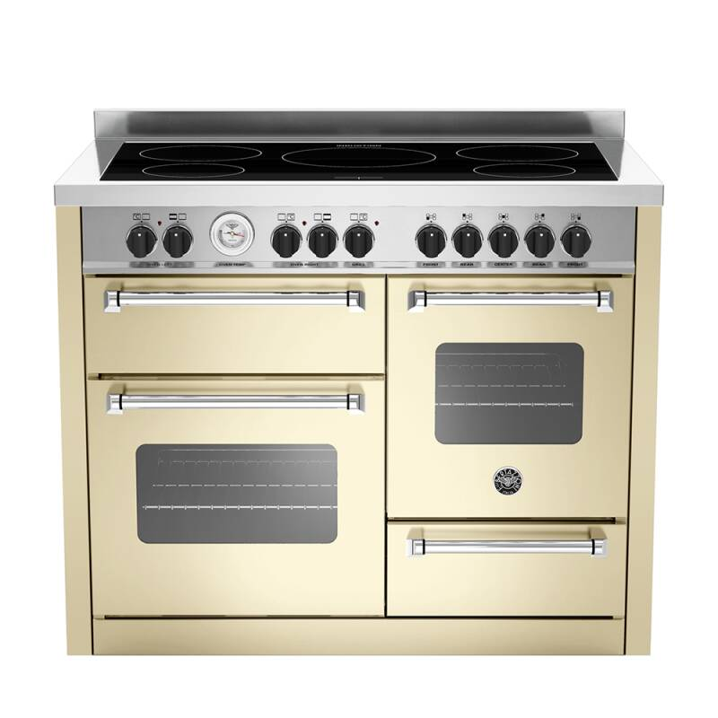 Bertazzoni XG Master 110cm Induction 5 Zone Range Cooker (2 Ovens) - Matt Cream (Crema) primary image
