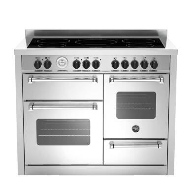 Bertazzoni XG Master 110cm Induction 5 Zone Range Cooker (2 Ovens) - Stainless Steel