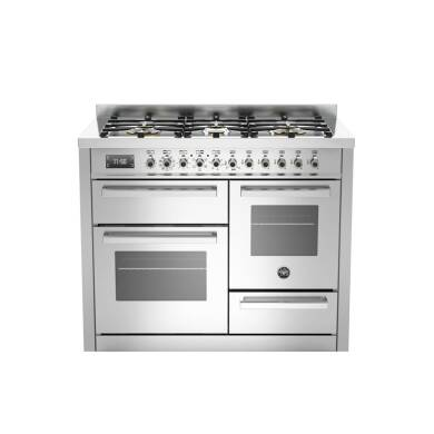 Bertazzoni XG Professional 110cm Dual Fuel 6 Burner Range Cooker (2 Ovens) - Stainless Steel
