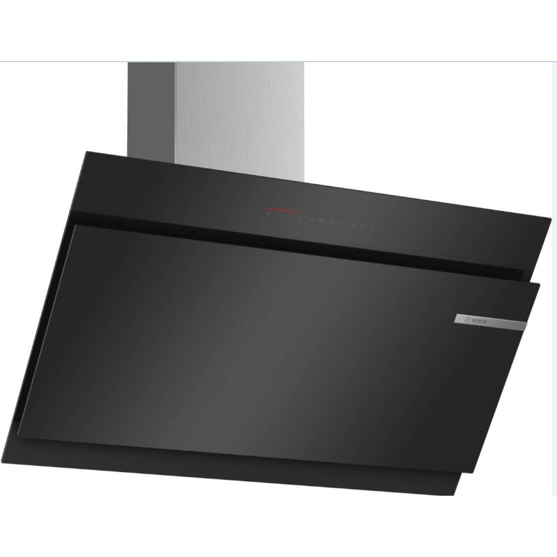 Bosch H1258xW890xD499 Angled Glass Hood - Black primary image