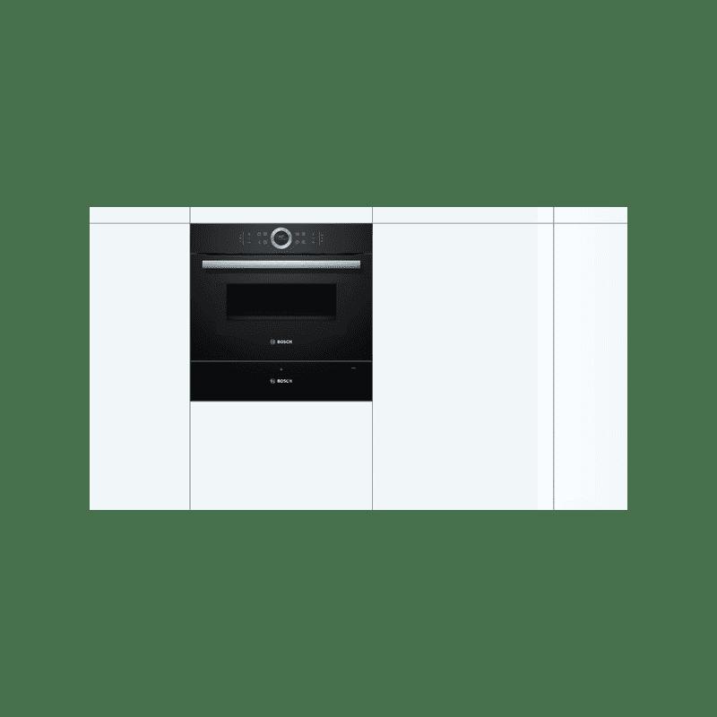 Bosch H140xW595xD548 Warming Drawer - Black additional image 1