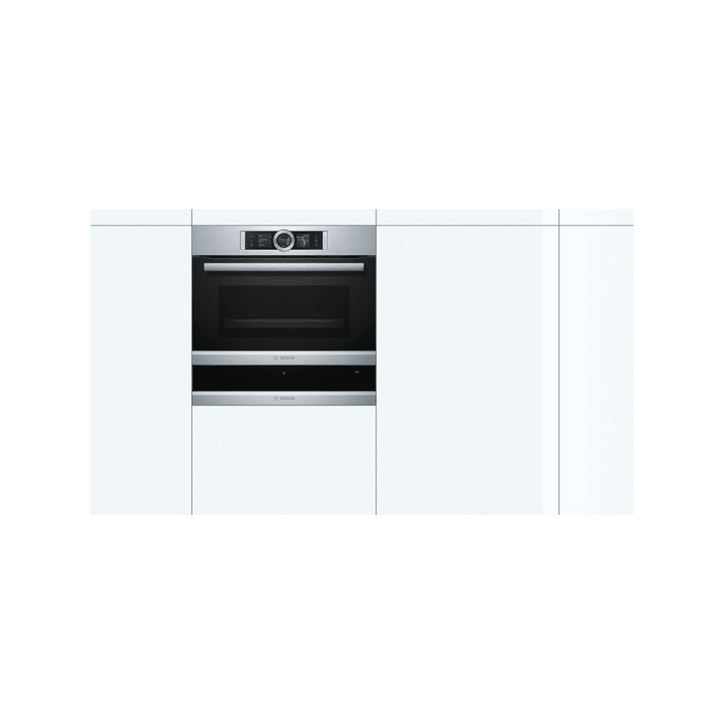 Bosch H140xW595xD548 Warming Drawer - Brushed Steel additional image 2
