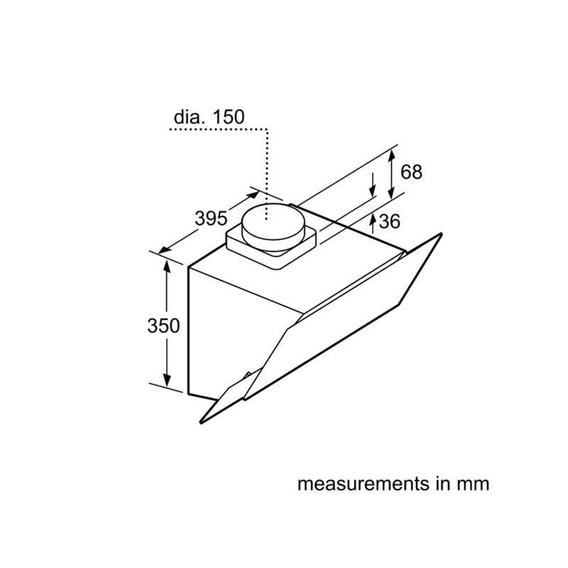 Bosch H1770xW596xD386 Angled Chimney Extractor additional image 5