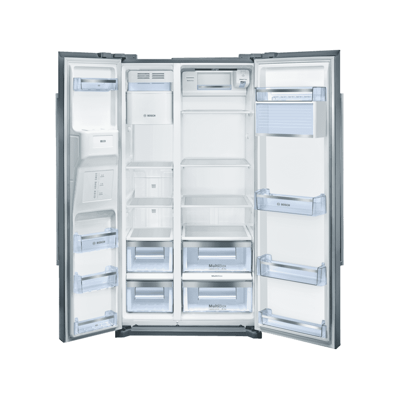 Bosch H1770xW910xD720 Side by Side Fridge Freezer - Stainless Steel additional image 1