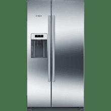 Bosch H1770xW910xD720 Side by Side Fridge Freezer - Stainless Steel
