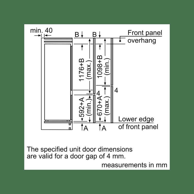 Bosch H1772xW541xD548 Integrated 70/30 Fridge Freezer additional image 5