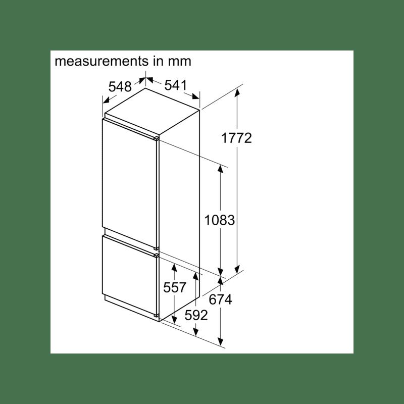 Bosch H1772xW541xD548 Integrated 70/30 Fridge Freezer additional image 6