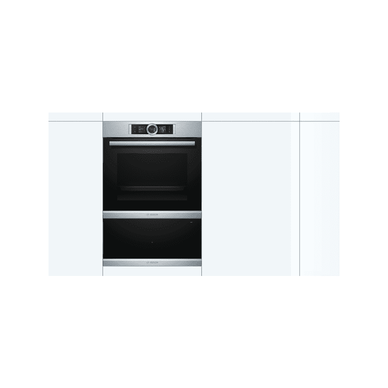 Bosch H290xW595xD548 Warming Drawer - Brushed Steel additional image 1