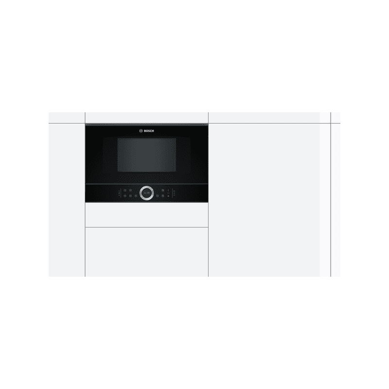Bosch H382xW594xD318 Built-In Microwave - Black additional image 2