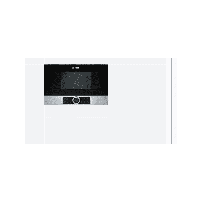 Bosch H382xW594xD318 Built-In Microwave - Brushed Steel additional image 2
