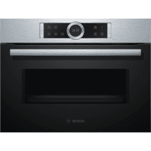 Bosch H455xW595xD545 Microwave - Brushed Steel