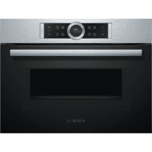 Bosch H455xW595xD548 Compact Oven with Microwave - Brushed Steel