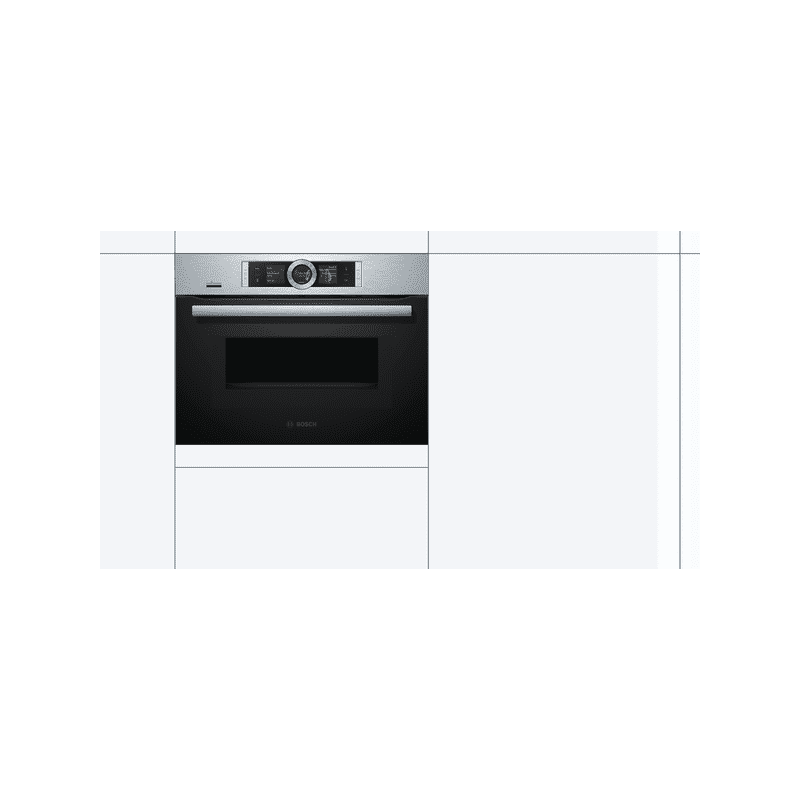Bosch H455xW595xD548 Compact Oven with Microwave -  Stainless Steel additional image 1