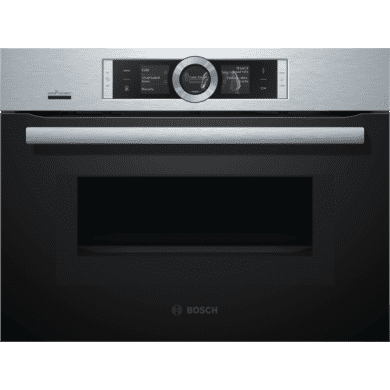 Bosch H455xW595xD548 Compact Oven with Microwave -  Stainless Steel