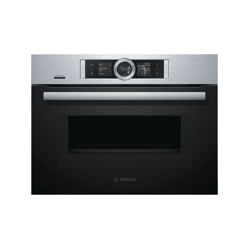 Bosch H455xW595xD548 Compact Oven with Microwave -  Stainless Steel primary image