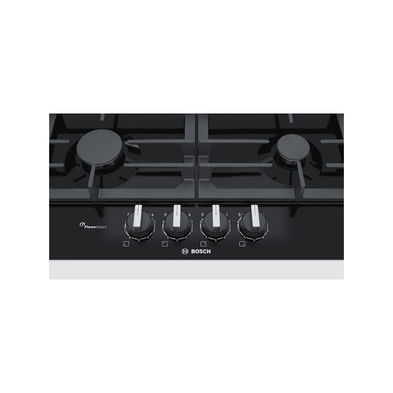 Bosch H45xW582xD520 Gas 4 Burner Hob With Flameselect-Black additional image 1