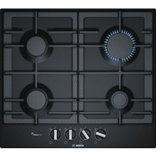 Bosch H45xW582xD520 Gas 4 Burner Hob With Flameselect-Black