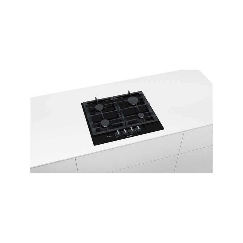 Bosch H45xW582xD520 Gas 4 Burner Hob With Flameselect-Black additional image 4