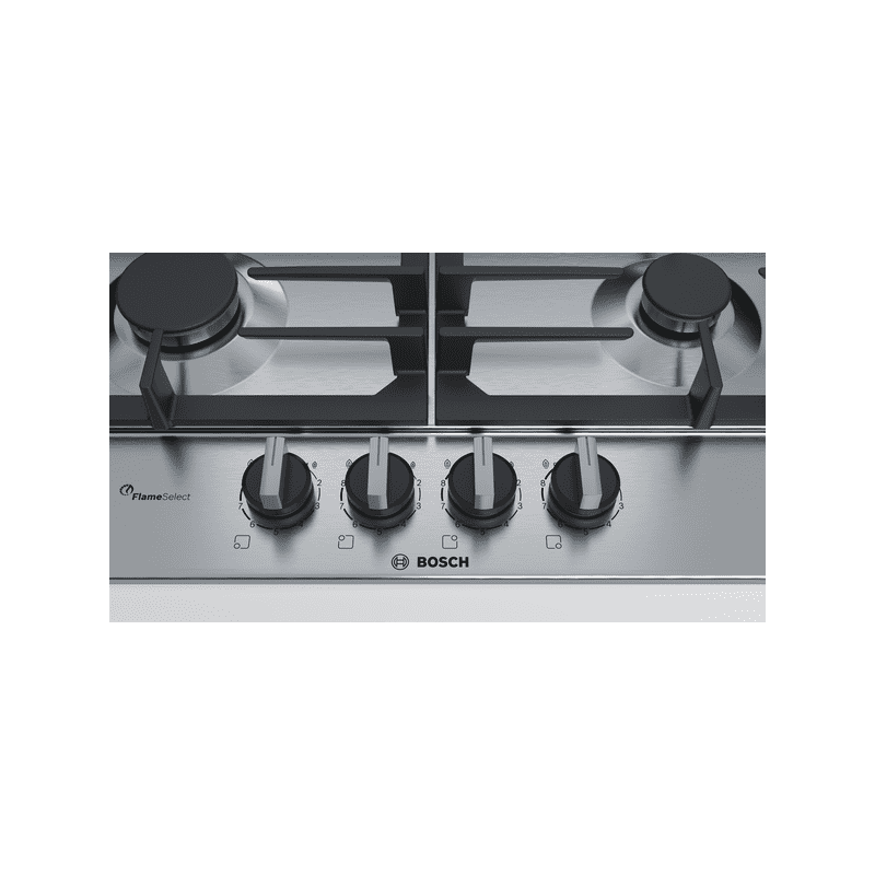 Bosch H45xW582xD520 Gas 4 Burner Hob With Flameselect-S/Steel additional image 4