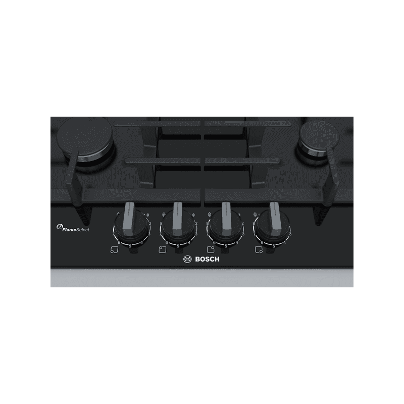 Bosch H45xW590xD520 Gas 4 Burner Hob With Flameselect- Black additional image 2